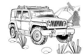 Jeep Rescue Kleurplaat Gratis Kleurplaten Printen