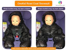 their babies while walking in winter and then need to transfer the child to the car seat for the drive home and don t want to take jackets snowsuits
