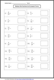Kindergarten Simplifying Or Reducing Fraction Worksheets | For My ...