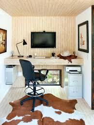 home office living room. Home Office With Wall-Mounted Monitor Home Office Living Room