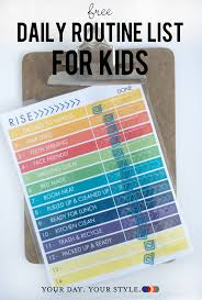 To Do List Charts Free Chart To Keep Kids Organized Before And After School