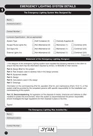 Click Emergency Lighting Test Key Emergency Lighting Log Book Amazon Co Uk Syam Books