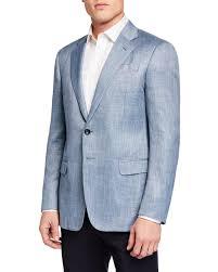 Armani Light Blue Suit Lyst Giorgio Armani Mens Melange Pattern Sport Jacket In
