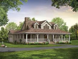 rustic one story farmhouse plans wrap around porch
