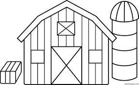 farm barn clip art. Farm Barn Lineart Clip Art D