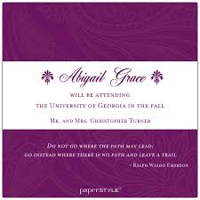 Elegant Graduation Announcements Elegant Frame Purple Photo Graduation Announcements