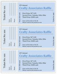 Template For A Raffle Ticket 15 Free Raffle Ticket Templates In Microsoft Word Mail