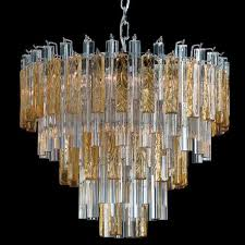 kylie murano glass chandelier 9 lights transpa and amber