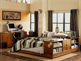 Cool Teenage Bedrooms For Guys The Bookcase Idea On The Wall White ...