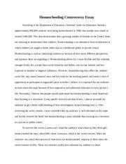 cmn homeschooling controversy annotated bibliography 6 pages cmn 112 homeschooling controversy essay