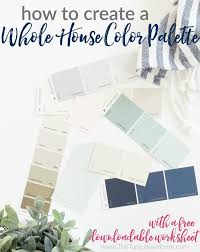 how to create a whole house color palette