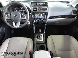 2018 and 2017 subaru forester limited interior platinum gray leather interior has gloss back