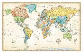 World Map Posters Rand Mcnally Classic World Map