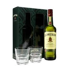 jameson irish whiskey 70cl gift pack with tumbler