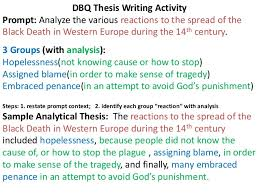 dbq essay guidelines 4 dbq thesis writing