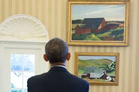 oval office paintings. Oval Office Paintings. Perfect Paintings President Barack Obama Looks At The Edward Hopper Now A