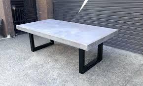 gorgeous concrete outdoor dining table c3764501 outdoor round light round concrete dining table sydney concrete dining