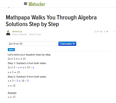 maths mobile app solves algebra equations step by step accurately
