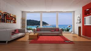 red living room decorating ideas along with stunning wall decor modern bright red living room