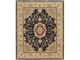 nourison 2000 rectangular black area rug nr2028blk