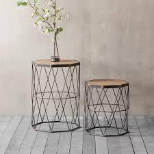 chiltern modern geometric side tables set of 2