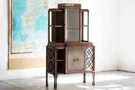 Chippendale China Cabinet Sold Antique Chippendale China Cabinet Wood Mirror Glass