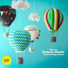 sewn hot air balloon plushies