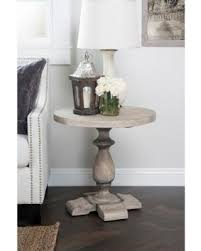 rustic round end table. Kosas Home Rustic Westminster Warm Grey Round End Table - 51004855 A