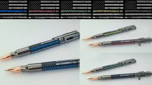 First Responders Bolt Action Pen POLICE FIRE EMS Thin Line
