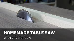 How to Convert a Portable Circular Saw Into a Table Saw