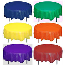 round plastic table cover 84 inches your choice of color