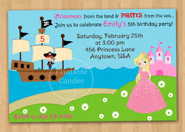 pirate and princess party invitations template preschool pirate and princess party invitations template