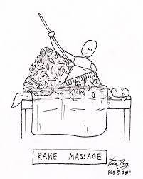 rake massage a pun from reiki massage