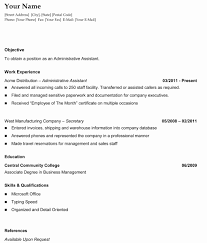 Resume Format Open Office Template Front Executive Back Assistant
