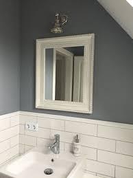 Badezimmer Bathroom Weiss Grau Mit Metro Fliesen Badezimmer