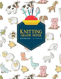 Knitting Graph Paper Notebook 2 3 Ratio Knitters Graph Paper