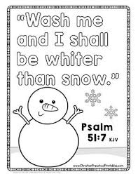 Simple christmas coloring page for children : Free Bible Verse Coloring Pages For Winter Snow Sunday School Kids Sunday School Crafts For Kids Bible Lessons For Kids