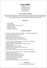 Babysitter Resume Sample Template Fascinating Customer Service Skills List Resume28 Resume Babysitter Resume For