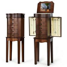 costway jewelry box cabinet with