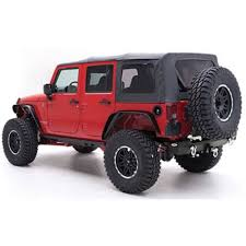 smittybilt soft top black diamond with tinted windows 4 door jeep wrangler jk 2007