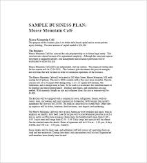 Sample Business Plan Outline Cafe Business Plan Template 14 Free Word Excel Pdf Format