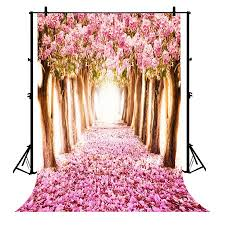 Cherry Blossom Backdrop Gckg 7x5ft Cherry Blossoms Street Beautiful Flower Sakura Road Polyester Photography Backdrop Studio Prop Photo Background Walmart Canada