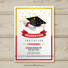 Invitation For Graduation Graduation Invitation Vectors Photos And Psd Files Free