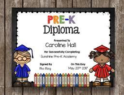 Prek Diploma 50 Off Sale Pre K Diploma Graduation Printable Etsy