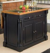 Elegant Home Styles 5009 94 Monarch Granite Top Kitchen Island, Black And  Distressed Oak