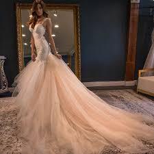 elegant sweetheart watteau train mermaid wedding dress backless