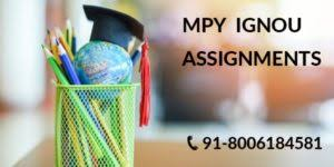 IGNOU MPY SOLVED ASSIGNMENTS FOR 2019-20 - IGNOU SOLVED ASSIGNMENT