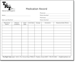 Medication Logs Medication Administration Record Sheet Template