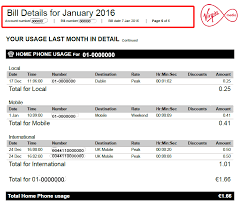 phone bill example understanding the home phone usage section of your bill