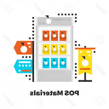 Point Of Sale Material Design Photostock Vector Pos Materials Flat Icon Material Design